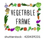 square vector frame doodle... | Shutterstock .eps vector #420439231