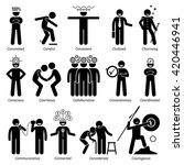 positive personalities... | Shutterstock .eps vector #420446941