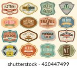 vector set vintage labels | Shutterstock .eps vector #420447499