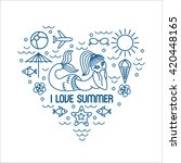 i love summer  vector summer... | Shutterstock .eps vector #420448165