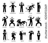negative personalities... | Shutterstock . vector #420451069