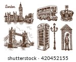 beautiful hand drawn vector... | Shutterstock .eps vector #420452155
