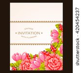 romantic invitation. wedding ... | Shutterstock . vector #420454237