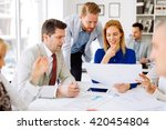 business people working in... | Shutterstock . vector #420454804
