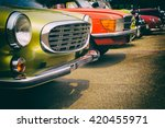 classic cars in a row   vintage ... | Shutterstock . vector #420455971