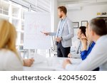 lecture and  training  in... | Shutterstock . vector #420456025