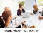 business people having a board...   Shutterstock . vector #420456049