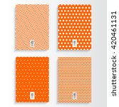 abstract minimal orange and... | Shutterstock .eps vector #420461131