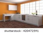 kitchen interior. 3d... | Shutterstock . vector #420472591