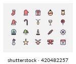 christmas icon set vector.   Shutterstock .eps vector #420482257