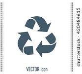 recycle vector sign | Shutterstock .eps vector #420484615
