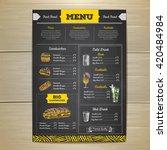 vintage chalk drawing fast food ... | Shutterstock .eps vector #420484984