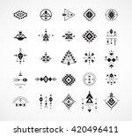 esoteric  alchemy  boho ... | Shutterstock .eps vector #420496411