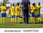 coach and youth soccer reserve... | Shutterstock . vector #420497335