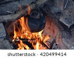Cooking On Open Fire In The...
