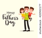 inscription happy father's day. ... | Shutterstock .eps vector #420502177