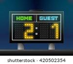 electronic soccer scoreboard... | Shutterstock . vector #420502354