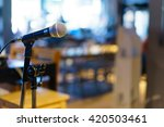 microphone over the abstract... | Shutterstock . vector #420503461