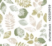 seamless pattern with forest... | Shutterstock .eps vector #420509959