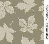 seamless pattern with chestnut... | Shutterstock .eps vector #420509971