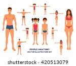 anatomy full length people... | Shutterstock .eps vector #420513079