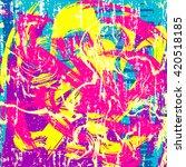 Psychedelic Colored Graffiti...