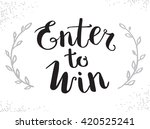 enter to win vector sign  win... | Shutterstock .eps vector #420525241