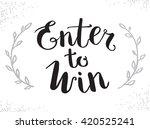 enter to win vector sign  win... | Shutterstock .eps vector #420525241
