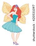 beautiful fairy posing in...   Shutterstock .eps vector #420531097
