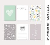 set of creative cards. vector... | Shutterstock .eps vector #420531169
