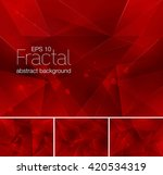 fractal abstract background.... | Shutterstock .eps vector #420534319
