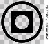 flat black singl icon record on ...