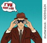 pop art detective with... | Shutterstock .eps vector #420541624