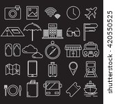 travel icon vector set of... | Shutterstock .eps vector #420550525