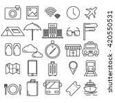 travel icon vector set of... | Shutterstock .eps vector #420550531