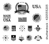 made in the usa   signs and... | Shutterstock .eps vector #420555205