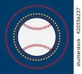 baseball icon vector flat... | Shutterstock .eps vector #420556237