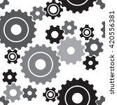 seamless cogwheel pattern ... | Shutterstock .eps vector #420556381