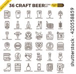 craft beer pixel perfect... | Shutterstock .eps vector #420558859