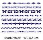 set ornamental borders. vector... | Shutterstock .eps vector #420565225