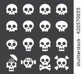 skull icon set | Shutterstock .eps vector #420570055