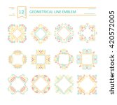 vector set of geometrical  logo ... | Shutterstock .eps vector #420572005