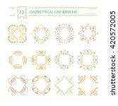 vector set of geometrical  logo ... | Shutterstock .eps vector #420572005