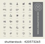 seo development icon set vector | Shutterstock .eps vector #420573265