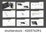 gray with yellow elements... | Shutterstock .eps vector #420576391