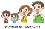 family happy   Shutterstock .eps vector #420576745