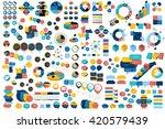 mega set of infographic... | Shutterstock .eps vector #420579439
