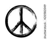 peace symbol icon vector... | Shutterstock .eps vector #420582049
