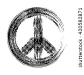 peace symbol icon vector... | Shutterstock .eps vector #420582871