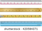 colorful rulers  millimeters ... | Shutterstock .eps vector #420584371
